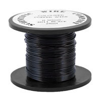 25 Metres 0.5mm 3011 Black Coloured Craft Wire