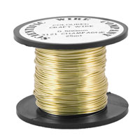 25 Metres 0.5mm 3121 Supa Champagne Coloured Craft Wire