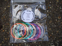 10 X 1Metre Coils 0.50mm Coloured Copper Wire