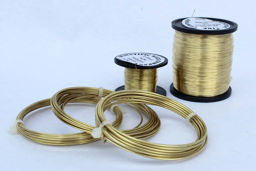 model making Bare solid Brass wire 3.25mm  500grams jewellery craft