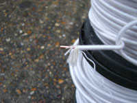 100grams 1.5mm High Build Cotton Covered Copper Wire [2.38mm OD]