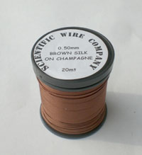 20 METERS 0.50MM BROWN COLOURED SILK COVERED COPPER
