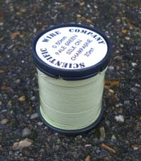 20 METERS 0.50MM PALE GREEN COLOURED SILK COVERED COPPER