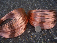 120 Metres 0.80mm Copper Plated Steel Wire 500g