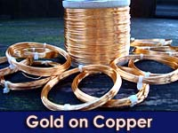 50g 1.5mm SOFT Gold Plated Copper Wire