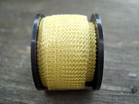 3 Metres 0.1mm 3121 Supa Champagne Knitted Craft Wire (15mm wide tube)