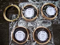 Brass Wire Coils Sample Pack 0.4mm / 0.6mm / 0.8mm / 1mm / 1.25mm