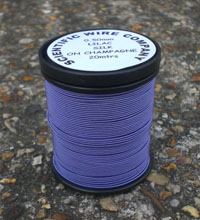20 METERS 0.50MM LILAC COLOURED SILK COVERED COPPER