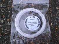 5 Metres 0.96mm WHITE SILK Covered Copper Wire