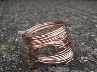 5 Metres 1.00mm  Square Bare Copper Wire