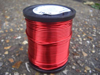 125g 0.114mm RED coloured Solderable Enamelled Copper Wire