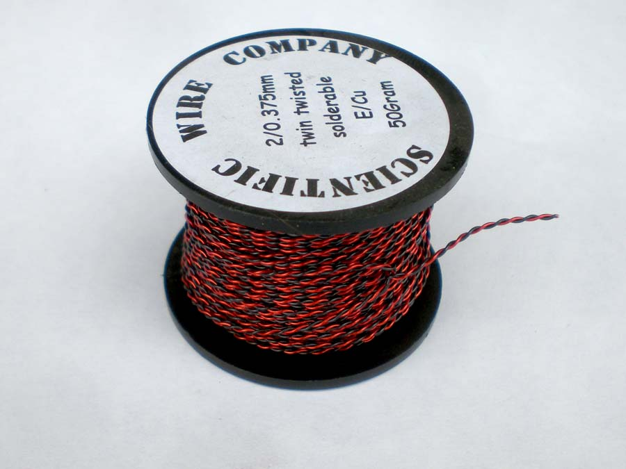500g 2 x 0.3mm Red / Gold Twin Twisted Enamelled Copper Wire